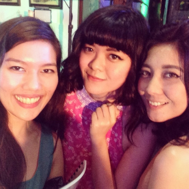 With Sonia and Clara from Indonesia