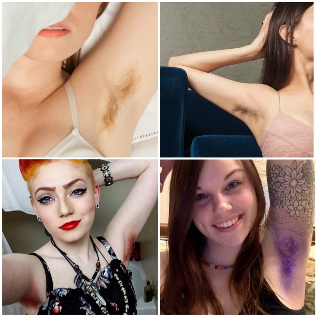 collage armpit hair