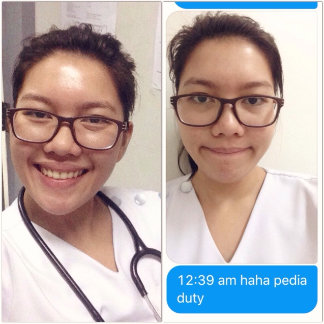 During duty... Ito ang example ng oily skin, guys. Haha