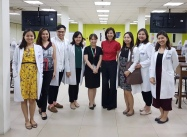 With our dermatopathology consultant, Dr. Cubillan, and her fellow :)